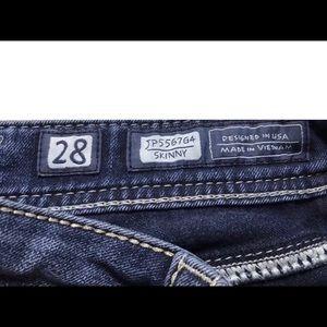 Miss Me Jeans - MISS ME FLEUR DE LIS Red Pockets Skinnies 28 x 30